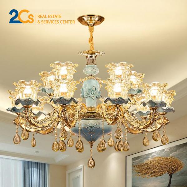 Nên chọn loại đèn pha lê cho căn phòng mang phong cách cổ điển