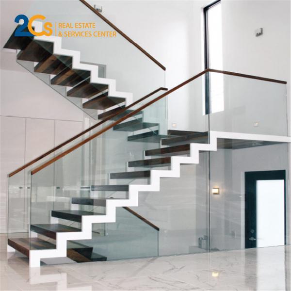 Cầu thang zigzac mang vẻ đẹp hiện đại cho ngôi nhà