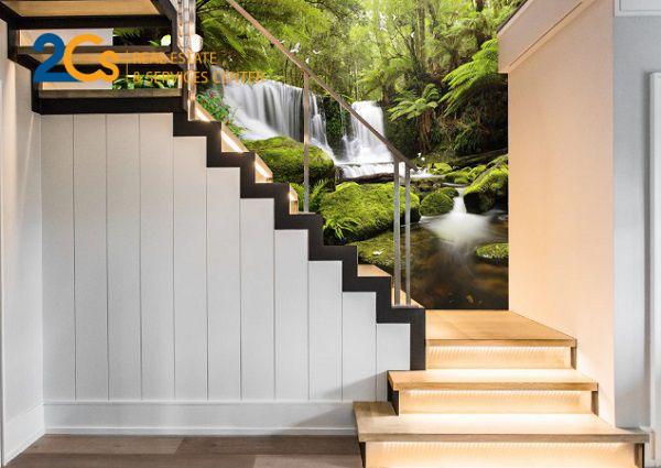 Cầu thang bản có thiết kế chắc chắn, chi phí xây dựng rẻ hơn