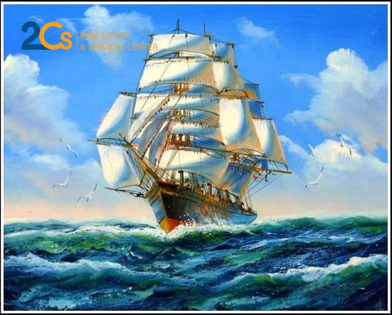 Thuận buồm xuôi gió giúp gia chủ làm ăn phát đjat, thuận lợi trong kinh doanh
