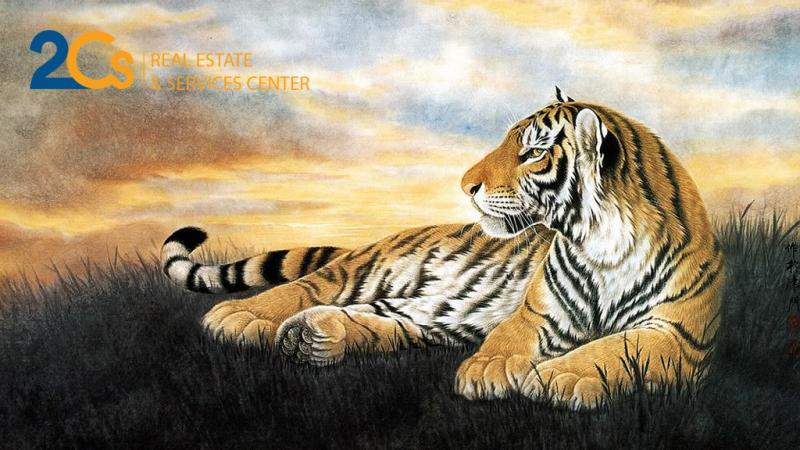 Gia chủ là quân nhân, cảnh sát, quan tòa, thuế thích hợp treo tranh con hổ