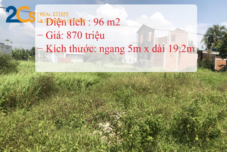 Bán 96m2 đất tại huyện Cần Đước, tỉnh Long An