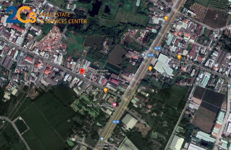 Bán lô đất 76 m2 mặt tiền cổng lăng Đ.Nguyễn Huỳnh Đức, P.Khánh Hậu, TP.Tân An, Long An
